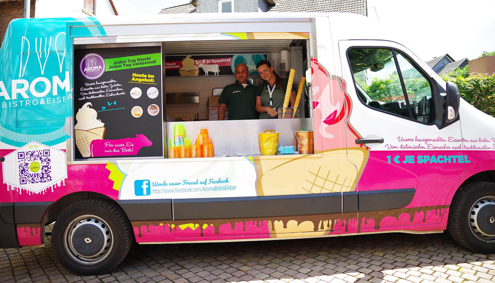 Der Aroma Eisbus - Das Highlight auf Ihrer Veranstaltung!